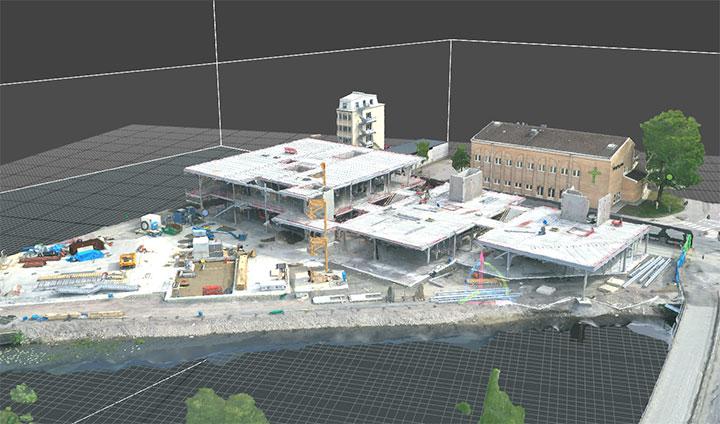 Här växer det nya Kulturkvarteret fram i en digital 3D-modell.