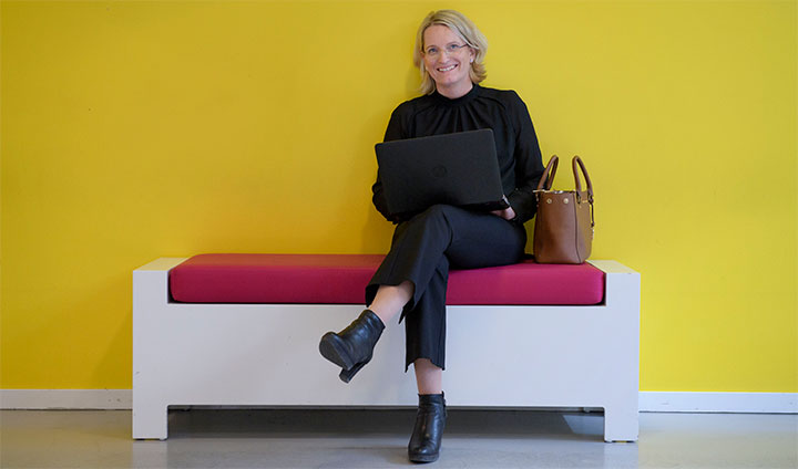 Bilden visar Ann-Katrin Tottie, framtidsanalytiker på ICA Gruppen.