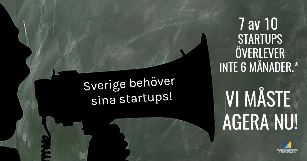 """Bilden visar kampanjen """"Rädda svenska startups""""."""