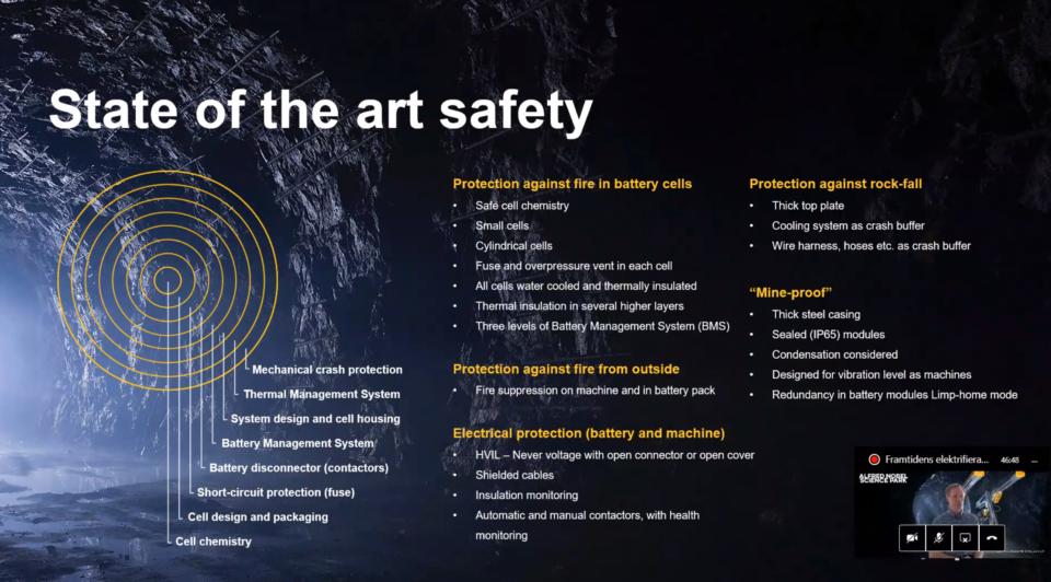 Bilden visar hur Epiroc arbetar med sitt säkerhetssystem på olika nivåer.